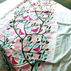 Girls Sparrow birds & tree TWIN bedding duvet set